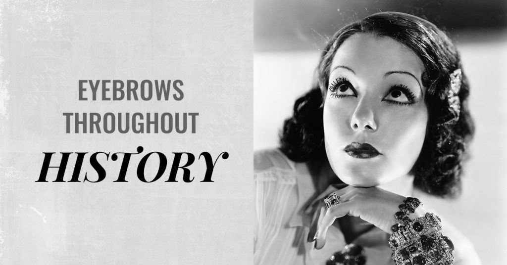 eyebrows throughout history